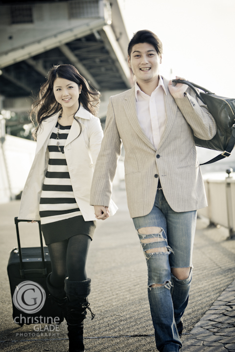 Hip Japanese Couple Traveling