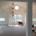 The wonderfully high ceilings required endless up and down on the ladders but the studio is going to be fabulous.