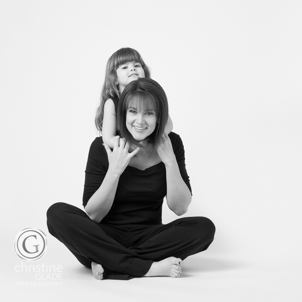 Modern Mother and Daughter Portrait