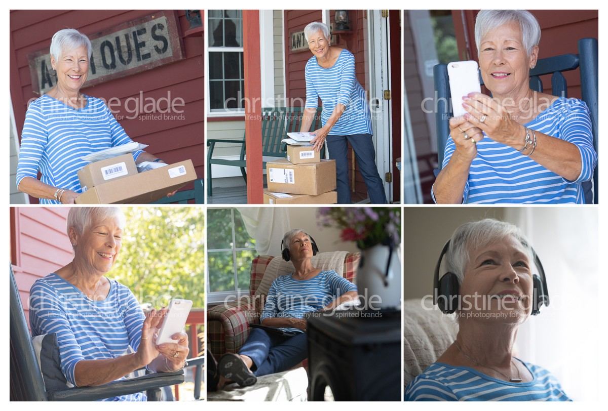 Modern Senior Woman Lifestyle Stock